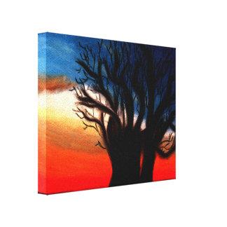 Peinture d'arbre de baobab toile tendue sur châssis
