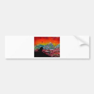 Peinture d'art de peinture de jet de paysage de autocollant de voiture