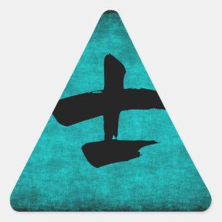 Peinture de caractère chinois pour le guerrier sticker triangulaire