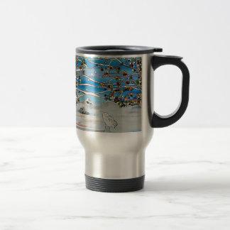 peinture de hibou mug de voyage en acier inoxydable