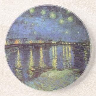 Peinture de la nuit étoilée de Van Gogh Dessous De Verres