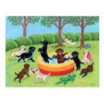 Peinture de Labradors d'amusement d'été