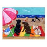 Peinture de Labradors de brise d'été Cartes Postales