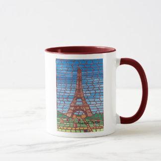 Peinture de mosaïque des tasses de coutume de Tour