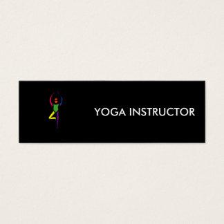 Peinture de pose de yoga d'arbre carte de visite petit format