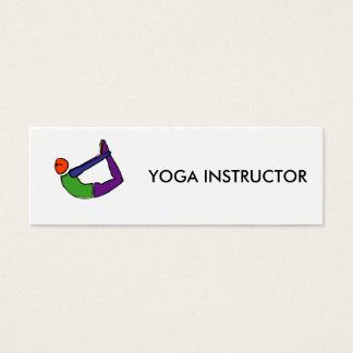Peinture de pose de yoga d'arc carte de visite petit format