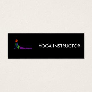 Peinture de pose de yoga de cobra carte de visite petit format