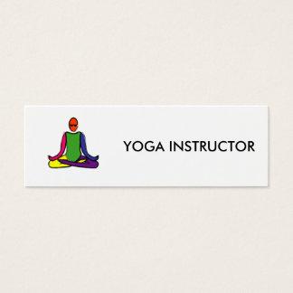 Peinture de pose de yoga de lotus carte de visite petit format