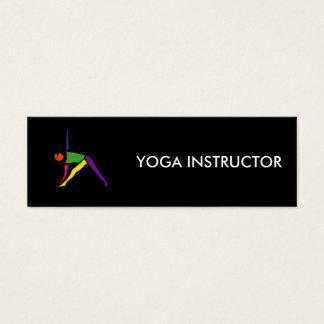 Peinture de pose de yoga de triangle carte de visite petit format