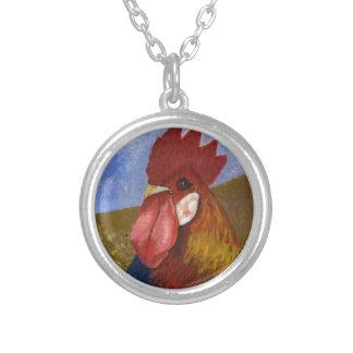 Peinture de poulet/coq collier