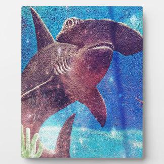 Peinture de requin de poisson-marteau plaque photo