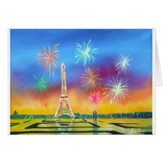 Peinture de Tour Eiffel à Paris Cartes