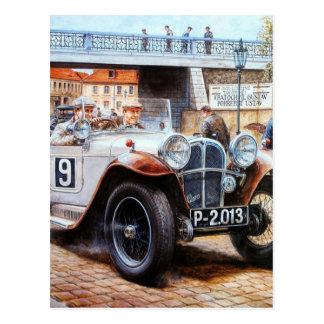 Peinture de voiture de course de tacot carte postale