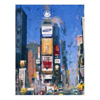 Peinture des Times Square Manhattan New York Carte Postale