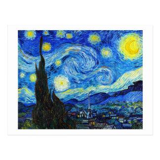 Peinture fraîche de Vincent van Gogh de nuit Cartes Postales