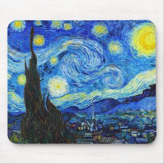 Peinture fraîche de Vincent van Gogh de nuit Tapis De Souris