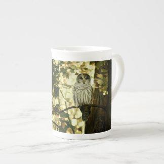 Peinture grise de hibou mug