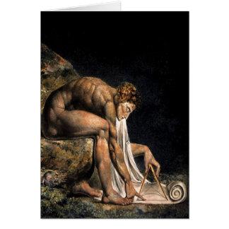 Peinture maçonnique de Newton William Blake Carte