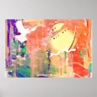 Peinture murale d'affiche d'aquarelle d'arche de