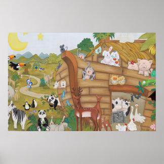 Peinture murale d'affiche d'art d'arche de Noahs