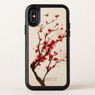 Peinture orientale de style, fleur de prune au