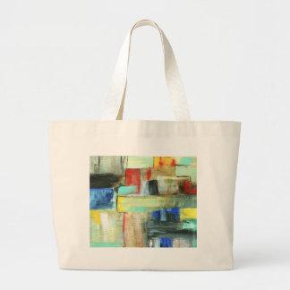 Peinture originale d'art de paysage urbain sac en toile jumbo