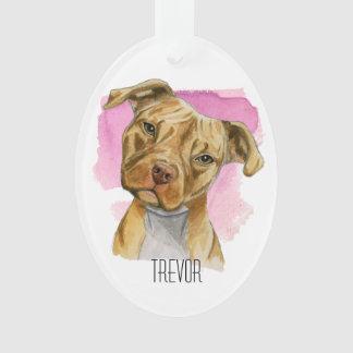 Peinture principale d'aquarelle de chien de