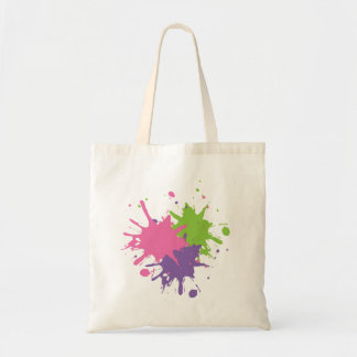 Peinture rose, verte et pourpre Fourre-tout Tote Bag