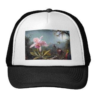 Peinture tropicale de forêt de fleur d'orchidée de casquette de camionneur