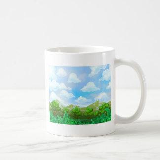 Peinture verte de nature mug