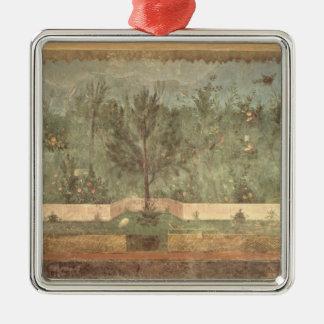 Peintures de jardin de la 'villa de Livia Ornement Carré Argenté