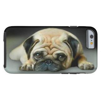 Peinzende Pug Hond Tough iPhone 6 Hoesje