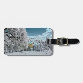 Pemberley dans l'étiquette de bagage d'hiver étiquette à bagage