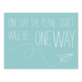 Pendant un jour le billet d'avion sera une carte
