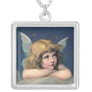 Pendentif de repos vintage de collier d'ange