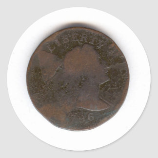 PENNY 1796 STICKER ROND