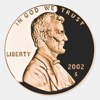 Penny 2 de Lincoln Sticker Rond