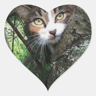 Penny dans l'arbre sticker cœur