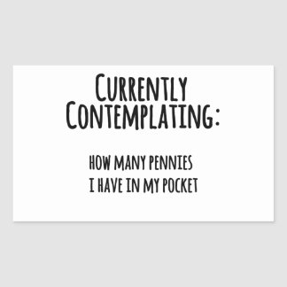 Penny dans ma poche sticker rectangulaire