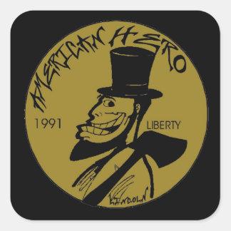 Penny de Lincoln d'enfer Sticker Carré