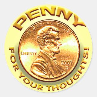 Penny pour vos pensées adhésifs