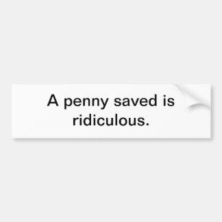 Penny sauvé autocollant de voiture