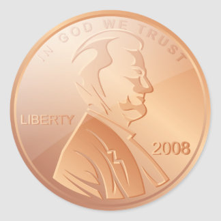 Penny Sticker Rond