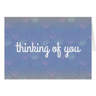 """""""Pensant à vous"""" carte éthérée de fleurs"""