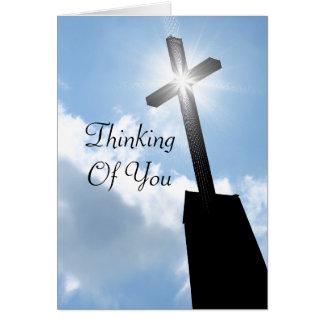 Pensée à vous carte de voeux religieuse