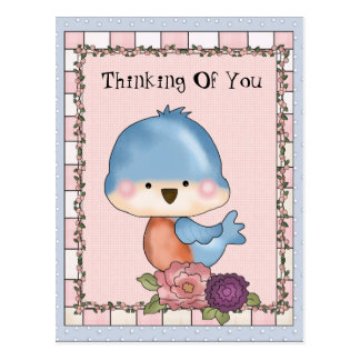 Pensée à vous carte postale d'oiseau