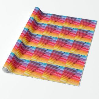 pensez en couleurs papier cadeau