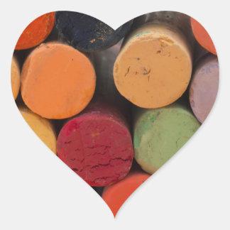 pensez en couleurs sticker cœur