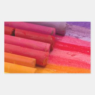 pensez en couleurs sticker rectangulaire