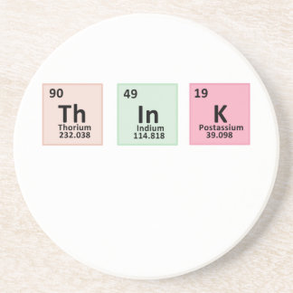 Pensez - la chimie dessous de verre en grès